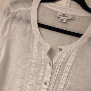 Vineyard vines linen button blouse